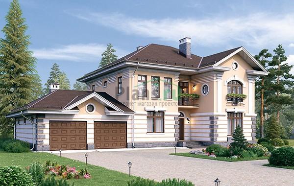Проект кирпичного дома 73-90