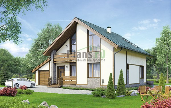 Проект кирпичного дома 73-93