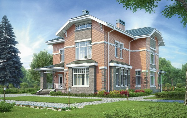 Проект кирпичного дома 73-94