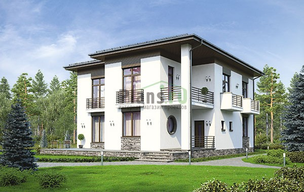 Проект кирпичного дома 74-03