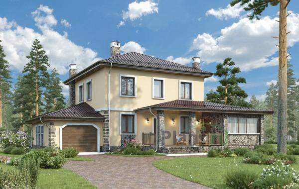Проект кирпичного дома 74-04