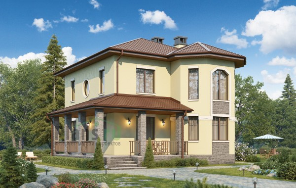 Проект кирпичного дома 74-12
