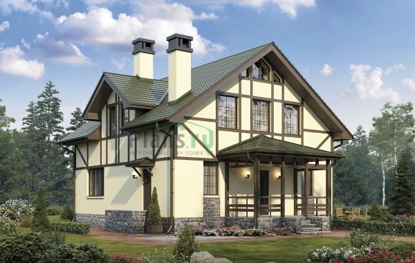 Проект кирпичного дома 74-13