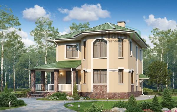 Проект кирпичного дома 74-14