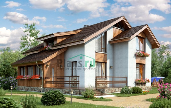 Проект кирпичного дома 74-17