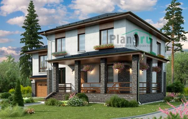 Проект кирпичного дома 74-23