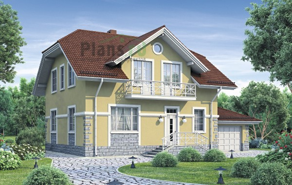Проект кирпичного дома 74-24