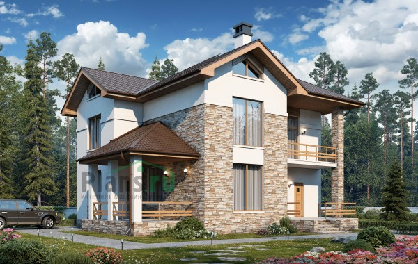 Проект кирпичного дома 74-25