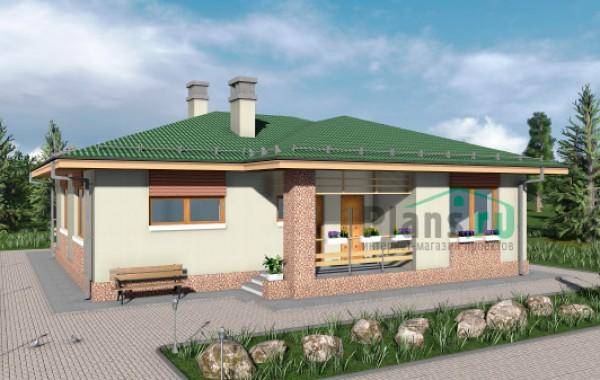 Проект кирпичного дома 74-27