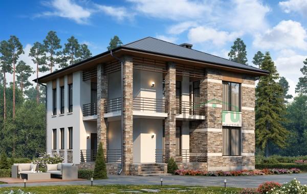 Проект кирпичного дома 74-30