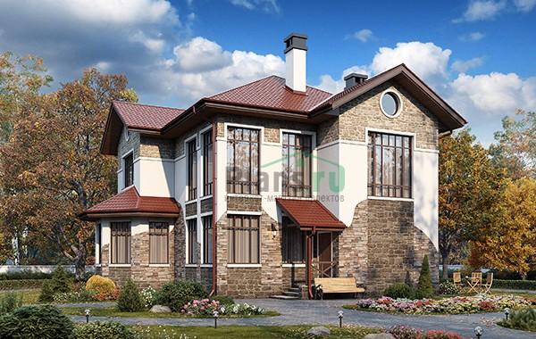 Проект кирпичного дома 74-35