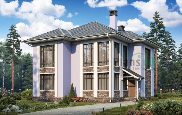 Проект кирпичного дома 74-36