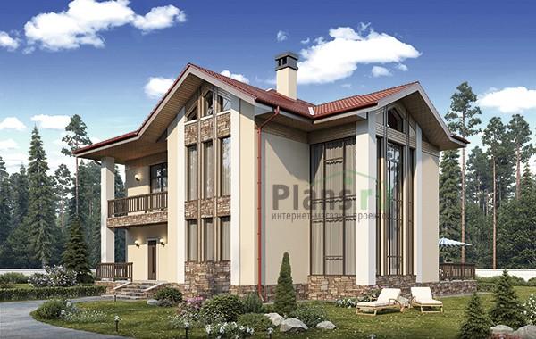 Проект кирпичного дома 74-40