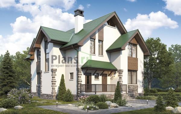 Проект кирпичного дома 74-41