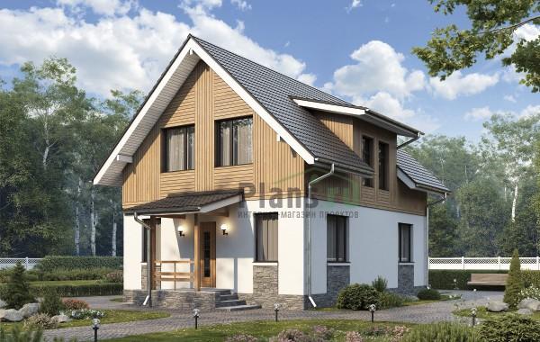 Проект кирпичного дома 74-42
