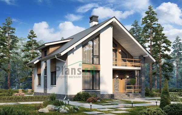 Проект кирпичного дома 74-43