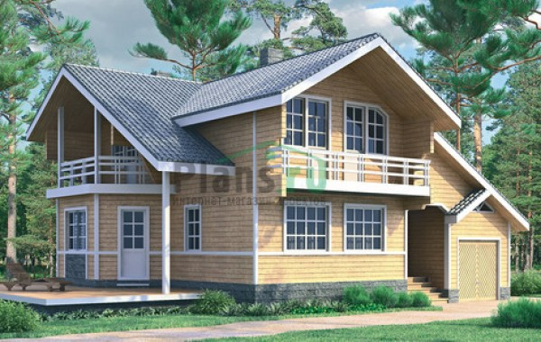 Проект деревянного дома 10-03