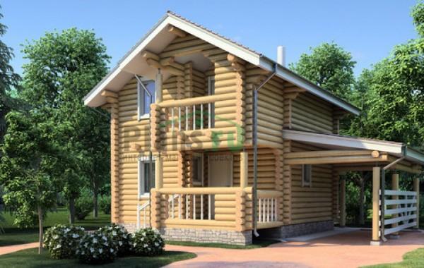 Проект деревянного дома 11-46