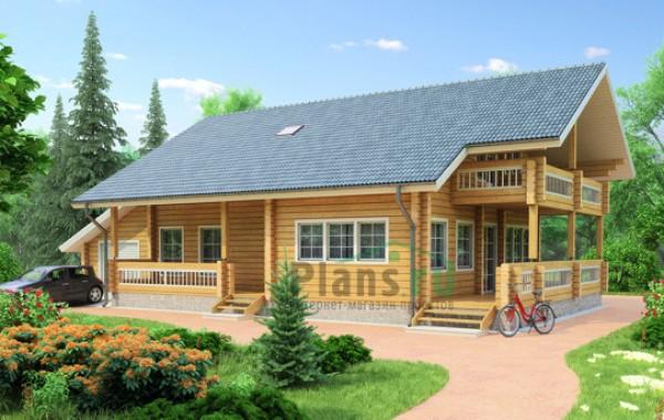 Проект деревянного дома 11-73