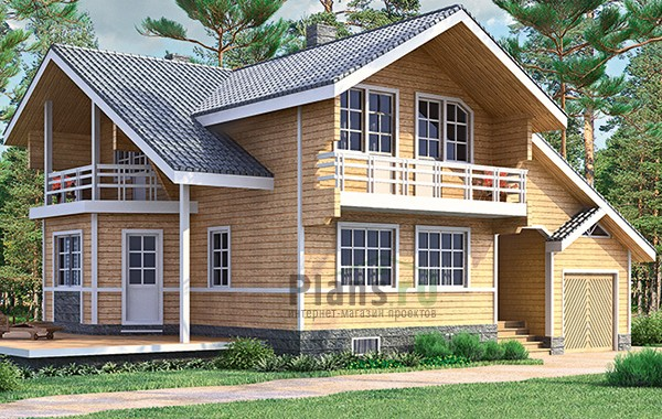 Проект деревянного дома 12-84