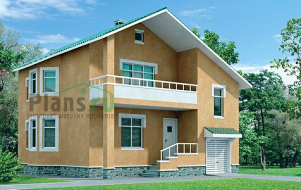 Проект кирпичного дома 31-45