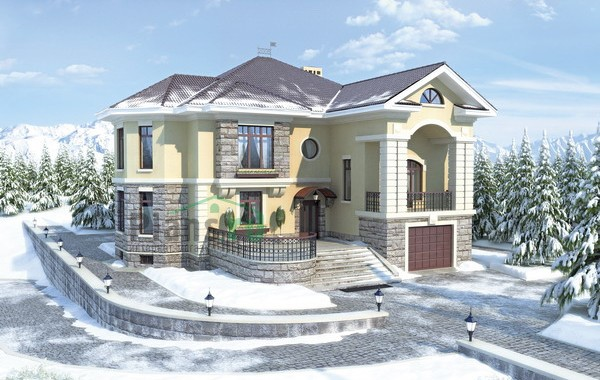 Проект кирпичного дома 35-36