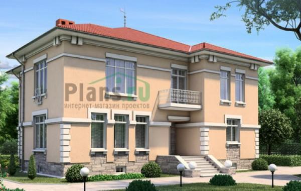 Проект кирпичного дома 35-55