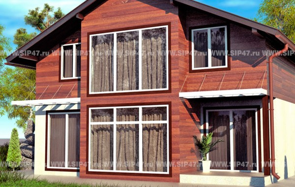 Типовой проект дома из СИП-панелей  №2
