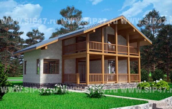 Типовой проект дома из СИП-панелей №5