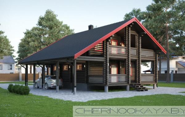 Проект деревянного дома №1573