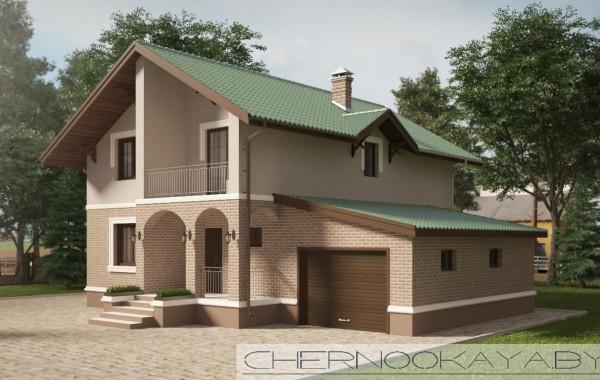 Проект дома №1533-7 с гаражом