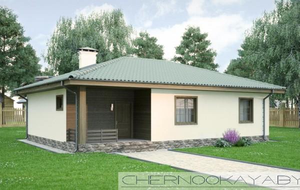 Проект одноэтажного дома №1535-4