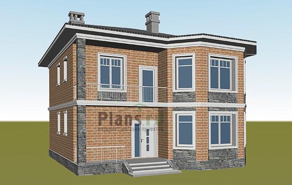 Проект кирпичного дома 41-54