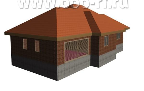 1-о этажный дом с гаражом