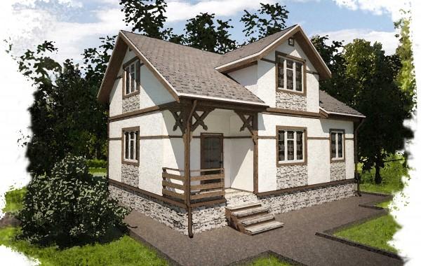 Проект каркасного дома К-2. Общая площадь 118 м2