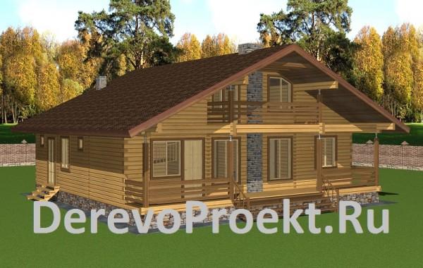 Проект дома 11х11,5 брус 150х150