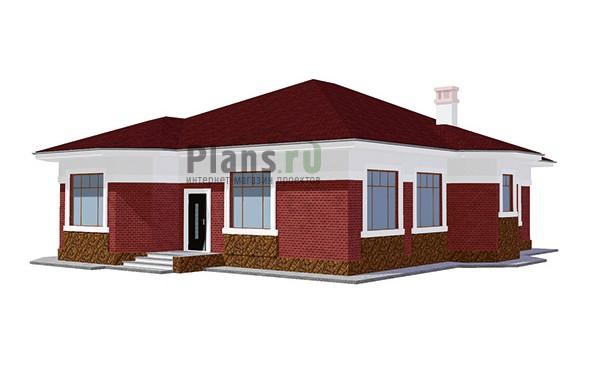 Проект кирпичного дома 41-75