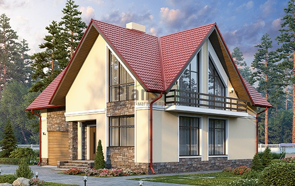 Проект кирпичного дома 41-91