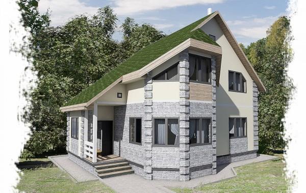 Проект каркасного дома К-9