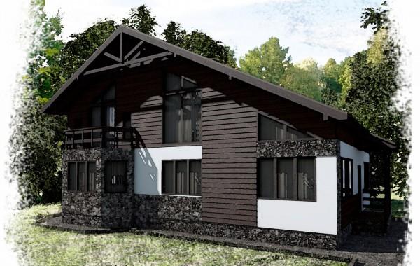 Проект каркасного дома К-8