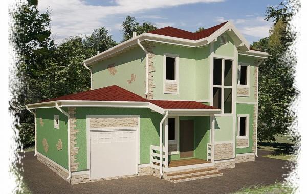 Проект каркасного дома К-10