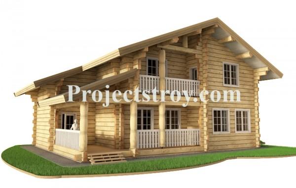 Проект дома из лафета.