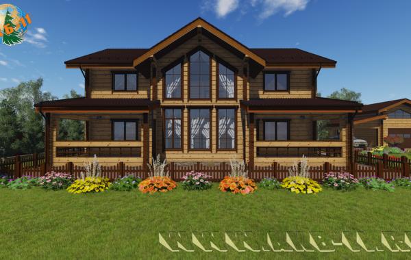 Деревянный жилой дом из клееного бруса КБ-320