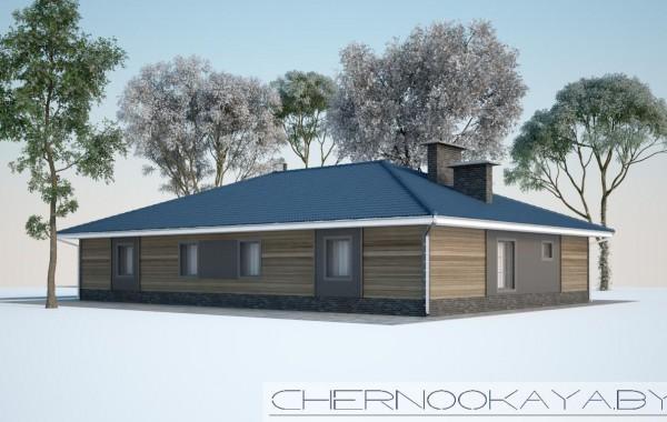 Проект дома из деревянного каркаса №1587