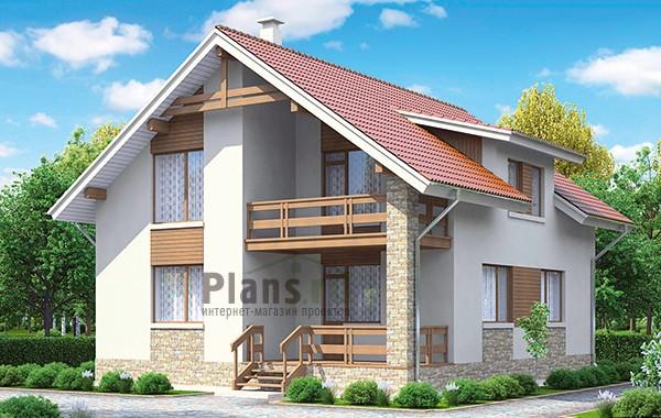 Проект кирпичного дома 42-52