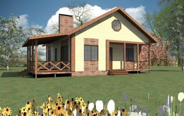 Эскизный проект летнего домика A-020