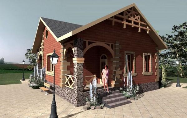 Готовый проект 1-этажного дома с котельной и кухне