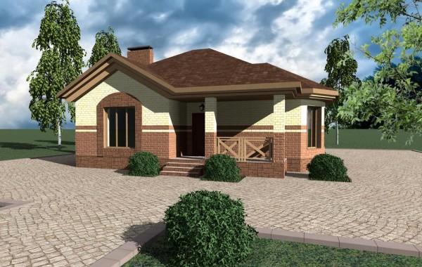 Готовый проект небольшого дома с 3 спальнями и гос