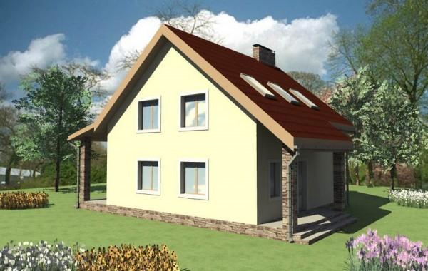 Эскизный проект дома на четыре спальни