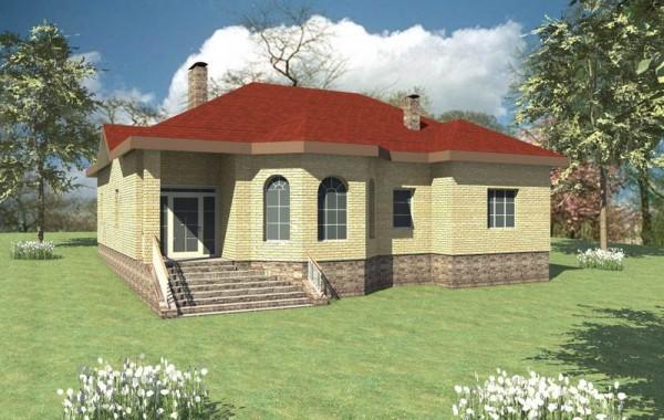 Проект одноэтажного дома с сауной и котельной